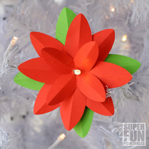 Paper poinsettias