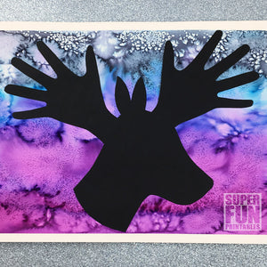 Silhouette handprint Christmas art