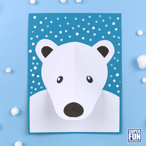 3D polar bear craft