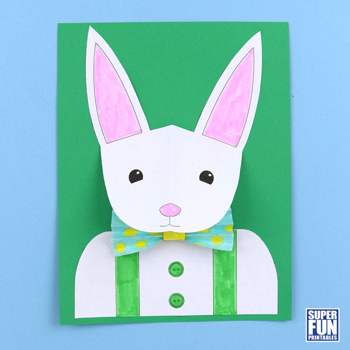 3D bunny paper craft