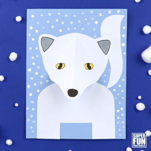 Printable Arctic fox craft