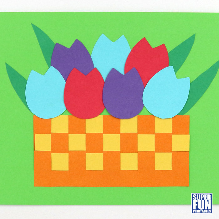 Basket of Tulips paper craft