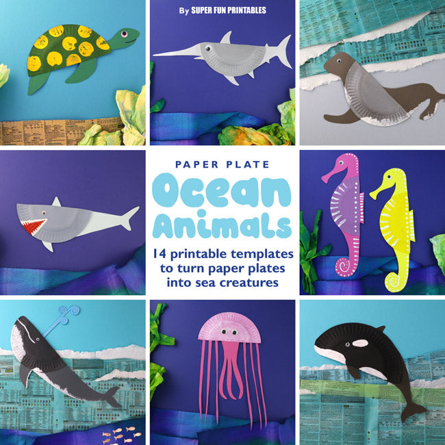 photo relating to Printable Ocean Animals titled Paper Plate Ocean Pets