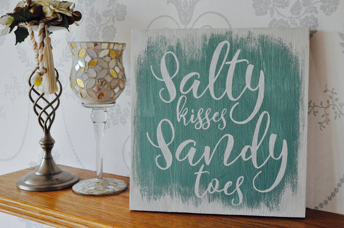 Salty kisses, sandy toes