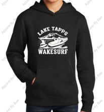Lake Tapps Wake Surf Youth Hoodie FRONT Logo