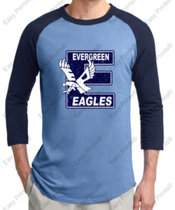 "Evergreen Primary Big ""E"" 3/4 Sleeve Sport-Tek Tee"