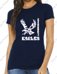 Evergreen Flying Eagle Bella + Canvas Short Sleeve Tee