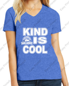 "Birchwood ""Kind is Cool"" Women's V-Neck Tee"