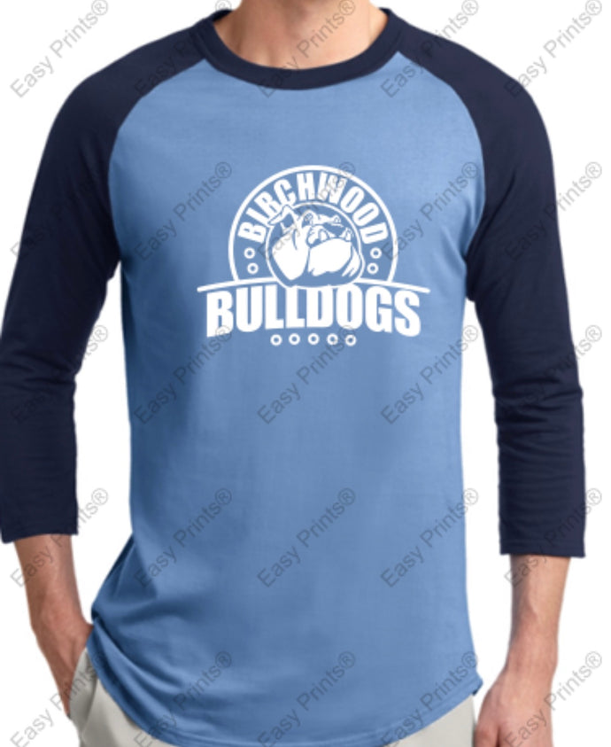 Birchwood Bulldogs 3/4 Sleeve Sport-Tek Tee