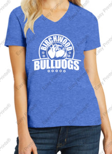 Birchwood Bulldogs Women's V-Neck Tee