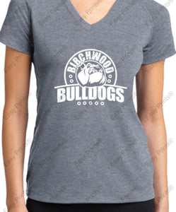 Birchwood Bulldogs Sport-Tek® Ladies Ultimate Performance V-Neck