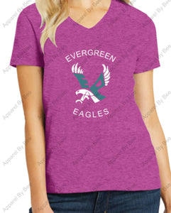 Evergreen Primary Women's V-Neck Tee