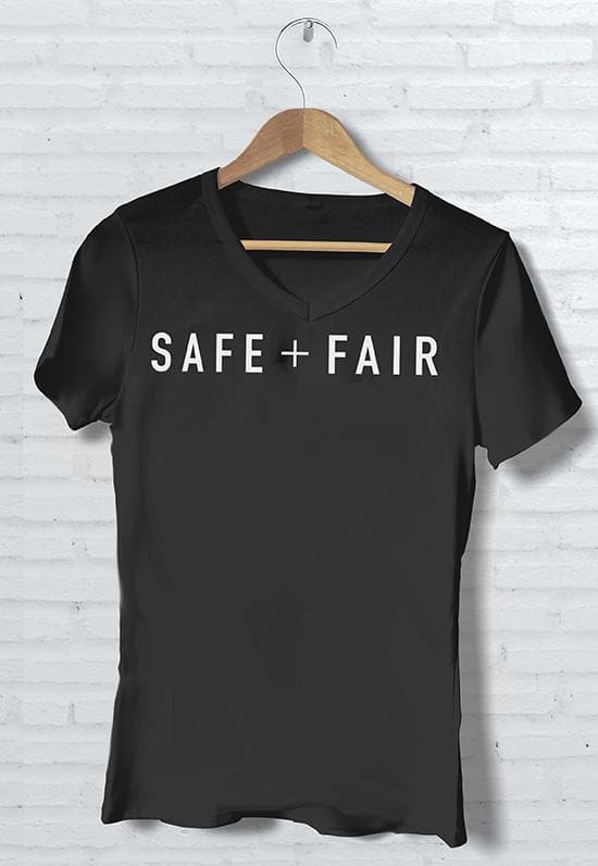 SAFE + FAIR T-Shirts - V-Neck - Safe + Fair