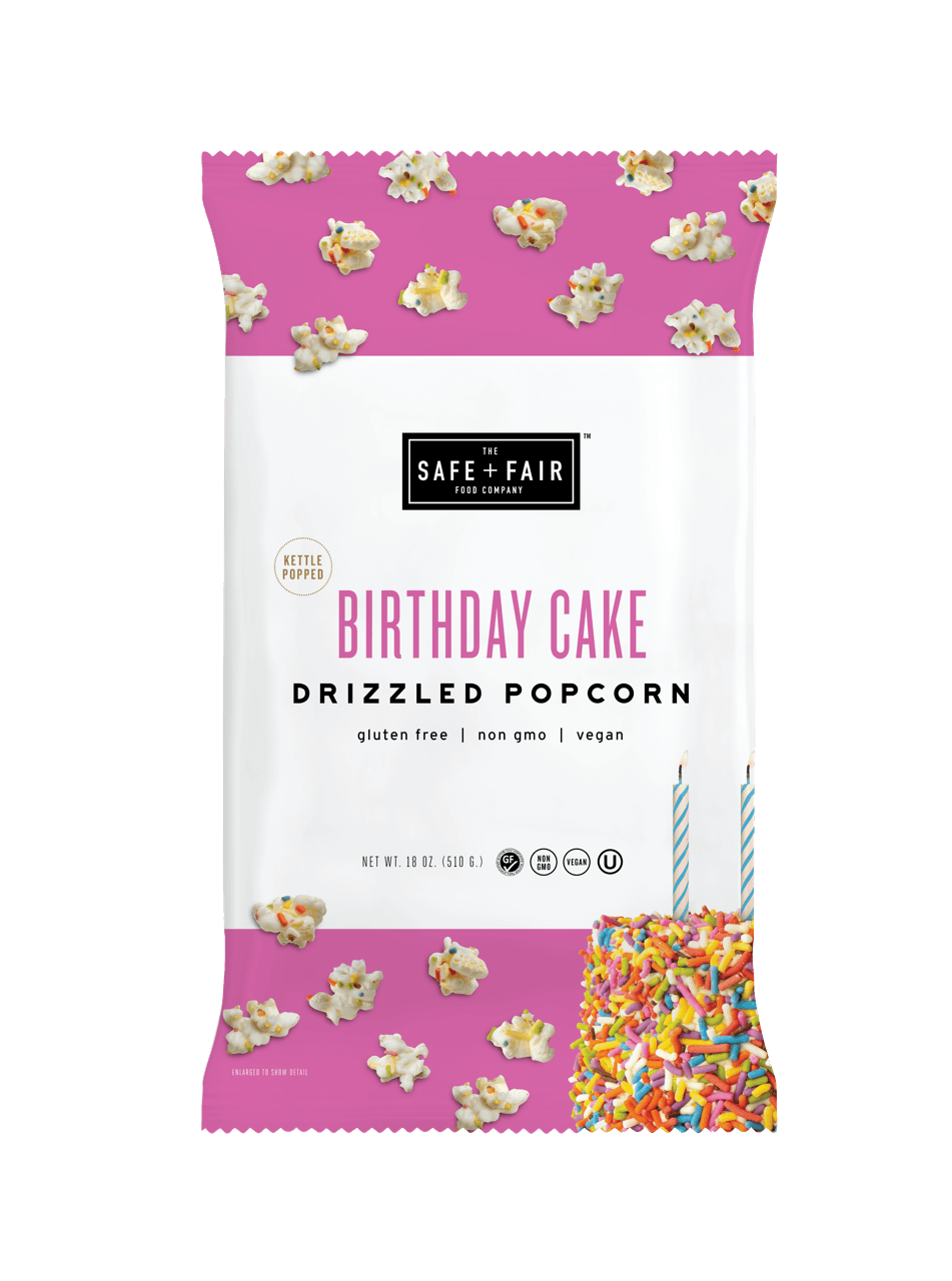 Party Size Birthday Cake Drizzled Popcorn - 18oz. Bag