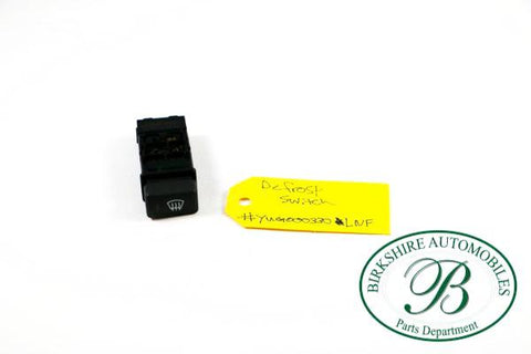 LAND ROVER DEFROST SWITCH  PART# YUG 000330 LNF. FITS: 2002-2003 FREELANDER HSE/ SE. 2002 FREELANDER S, 2003 FREELANDER SE3