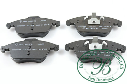 Jaguar Front Brake Pads part #C2C39929. Fits Jaguar 06-08 S-type, 06-09 VDP, 09-10/013-15 XF, 06-09 XJ8, 07-09 XK