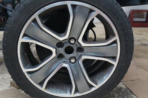 USED 5 SPOKE TAPERED DIAMOND TURNED ARGENT SPOKE RIMS FOR LAND ROVER 20X 91/2. FITS RANGE ROVER 2010-2013