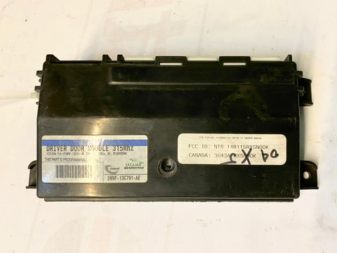 USED JAGUAR DRIVER SIDE DOOR MODULE PART #2W9F-13C791-AE/C2C22372. FITS JAGUAR XJ8/XJR2003-2009, JAGUAR XK8,XKR 2003-2006.