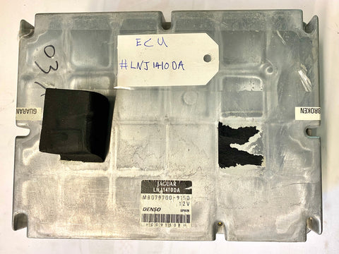 USED JAGUAR ENGINE CONTROL MODULE PART #LNJ-1410-DA. FITS JAGUAR XJ8 2000-2003.