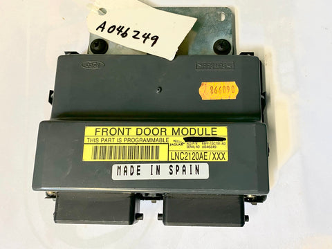 USED FRONT DOOR MODULE FOR JAGUAR PART #LNC2120AE. FITS JAGUAR XJ8,XJR 1998-2002, JAGUAR XK8,XKR 1998-2002.