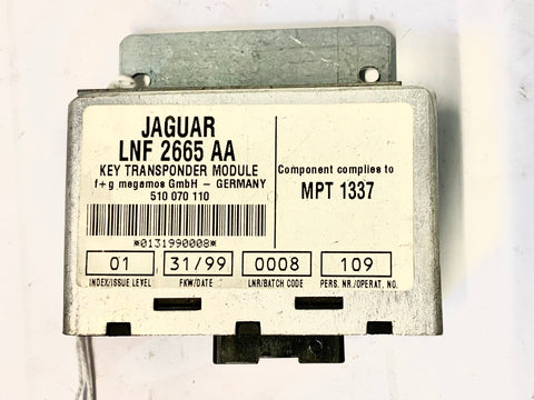 USED JAGUAR KEY TRANSPONDER MODULE PART #LNF-2665-AA. FITS JAGUAR XJ8/XJR
