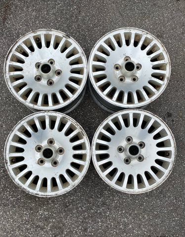 "USED JAGUAR RIMS 16""x7 20 SPOKE BOLT PATTERN 5X4.75 ALLOY RIMS  PART #MNA6113FA. FITS JAGUAR 1995-1997 XJ6"