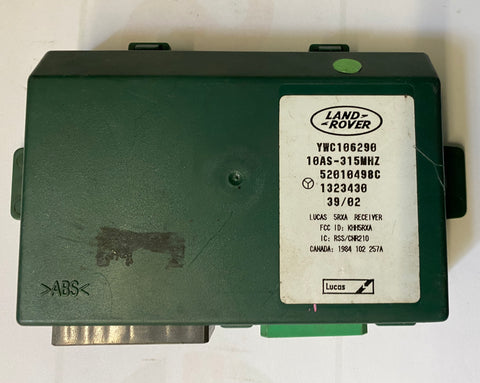 USED LAND ROVER ALARM MODULE PART #YWC106290. FITS LAND ROVER DISCOVERY 1996-1999