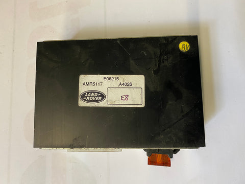 USED LAND ROVER RADIO AUDIO AMPLIFIER PART #AMR5117. FITS LAND ROVER DISCOVERY 1995-1998.