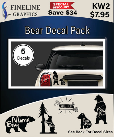Bears Decal Pack
