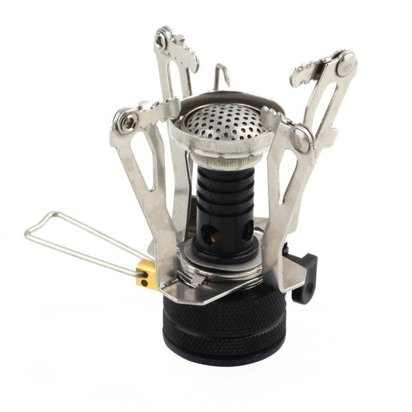 Ultralight Mini Backpacking Canister Stove Burner Piezo Ignition