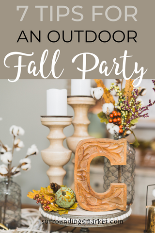 7 tips for an outdoor fall party.