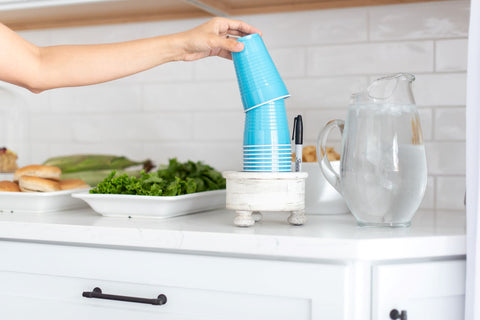 blue cups cup holder
