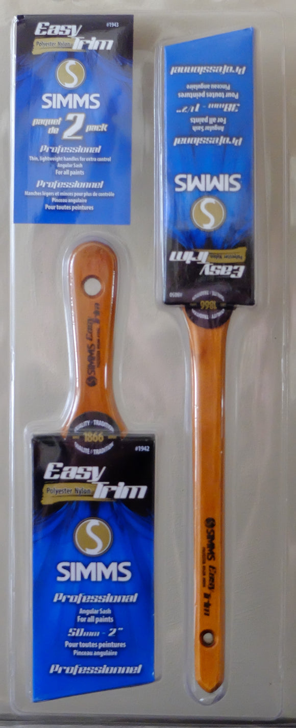 Simms - Easy Trim - Ensemble de 2 pinceaux / 2 Brushes Kit - 1.5