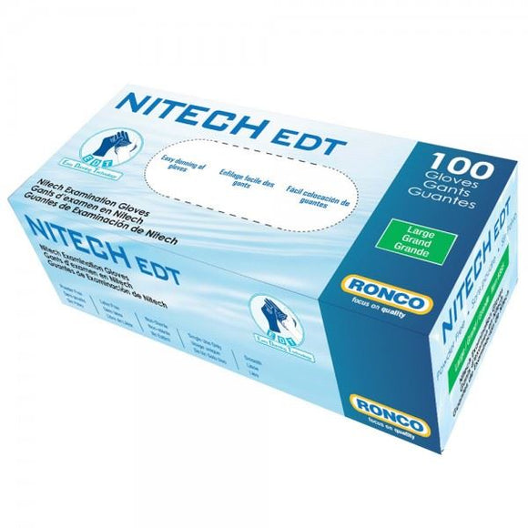 Nitech - Gant de Nitrile sans poudre / Nitrile Gloves without Powder - 5mil