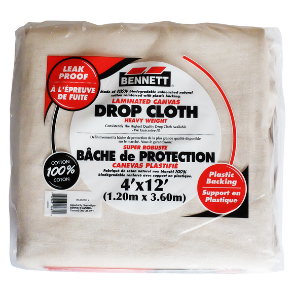 Bennett - Toile de Peintre plastifiée / Drop Cloth with Plastic Backing