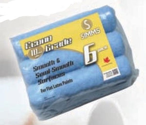 "Simms - Econo Rouleau Polyester / Polyester Roller Refills - 9.5"" - 6/pk"