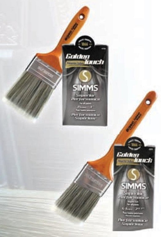 Simms -Pinceau Droit- GOLDEN TOUCH - Square paintbrush