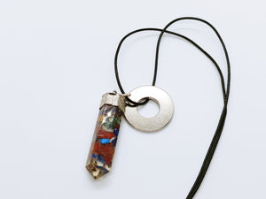 Necklace with Orgonite Crystal Pendant