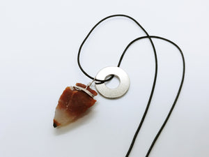 Necklace with Fancy Agate Arrow Pendant