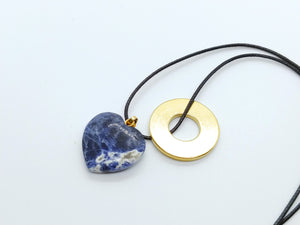 Necklace with Sodalite Heart Pendant