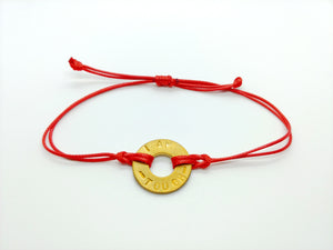 """I Am Tough"" Red Classic Pre-Stamped Bracelet"