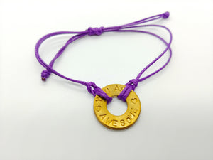 """You Are Awesome"" Purple Classic Bracelet"