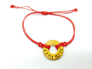"""Limitless"" Red Classic Pre-Stamped Bracelet"