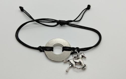 Classic Bracelet with Horse Charm