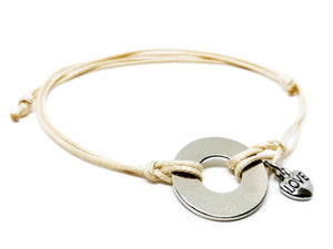 Classic Adjustable Bracelet with Nickel Heart Charm