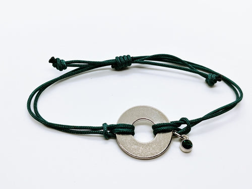 Classic Adjustable Bracelet with Jewel Charm