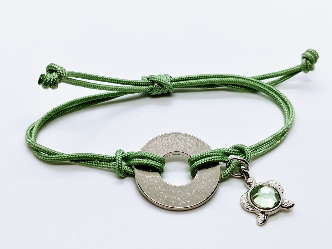 Classic Adjustable Bracelet with Turtle Charm