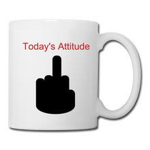 Today's Attitude (red) Coffee/Tea Mug - white