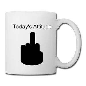 Today's Attitude Coffee/Tea Mug - white