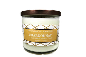 Chardonnay Scented 3 Wick Soy Wax Candle - Dancing Orchid SoapWorks
